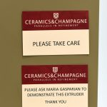 Maria Gasparian at Arup's Ceramics & Champagne event 2017