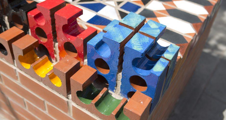 City Ceramic Bench, Maria Gasparian. Photo by Agnese Sanvito